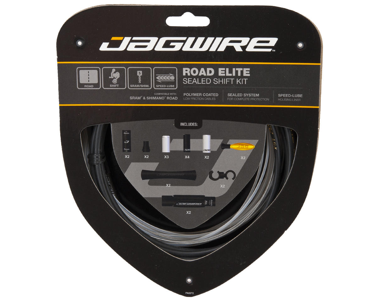 Jagwire Road Elite Sealed Shift Kit (Black)