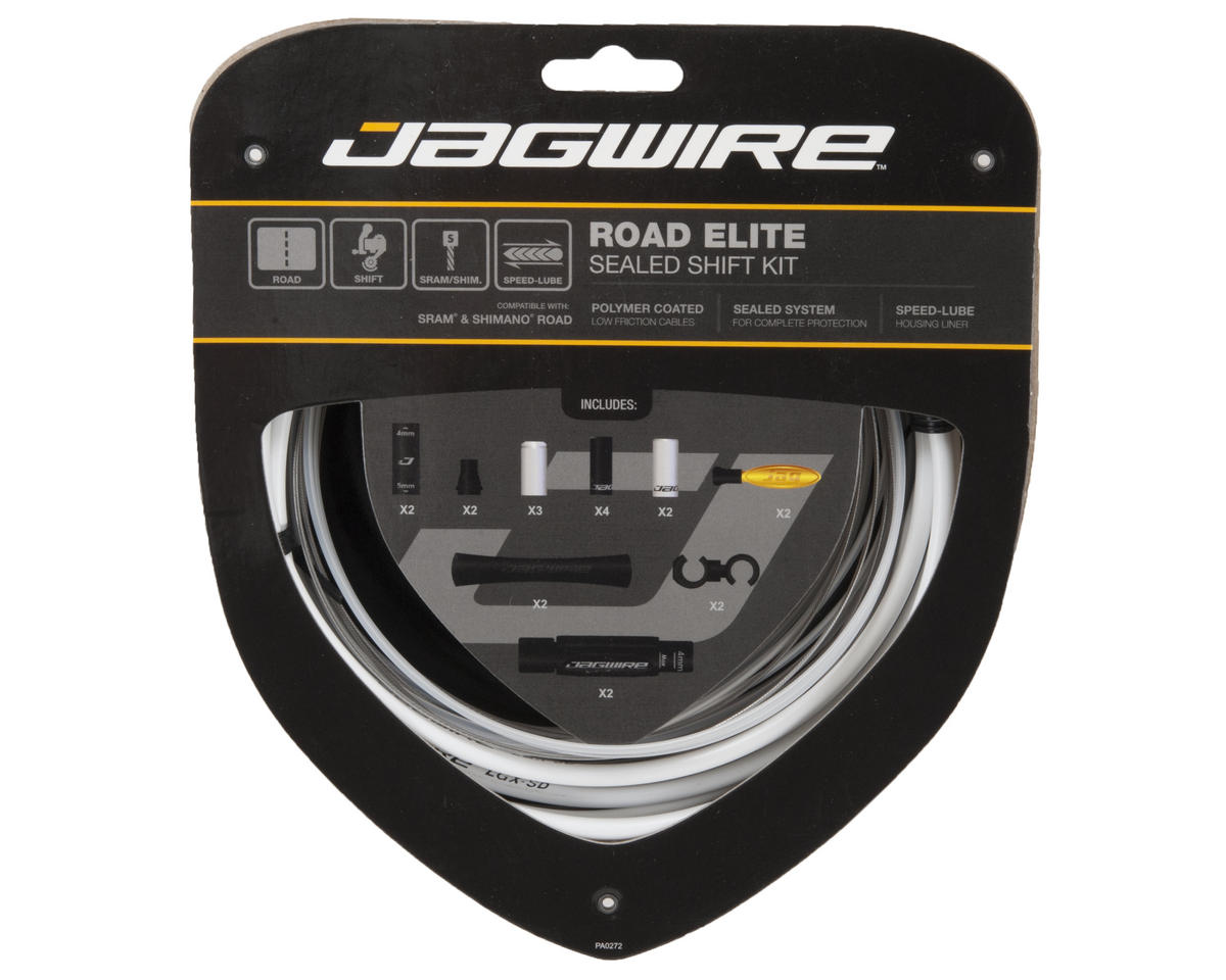 Jagwire Road Elite Sealed Shift Kit (White)