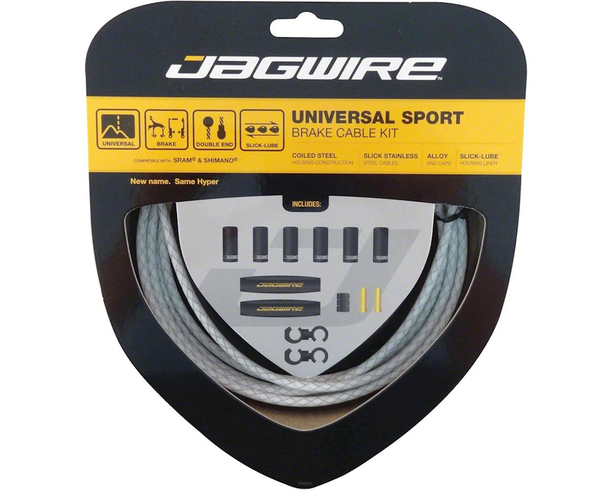 Jagwire Universal Sport Brake Cable Kit, Braided White