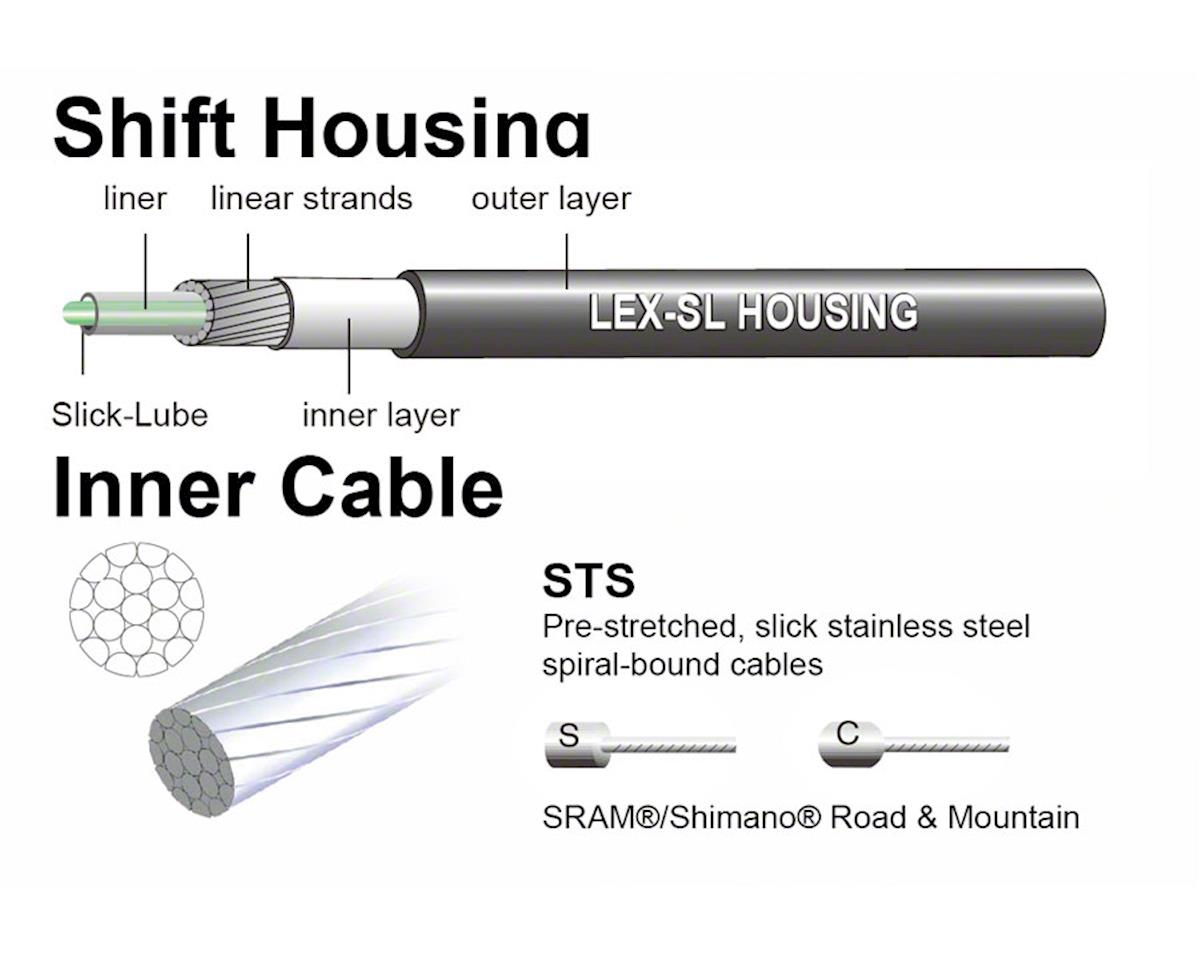 Jagwire Universal Sport Shift XL Cable Kit, White