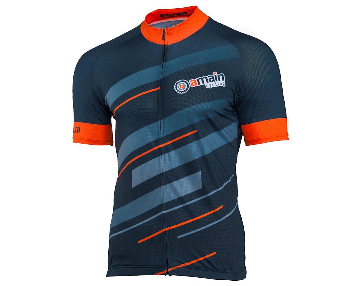 Jakroo AMain Men's Fondo Cycling Jersey  (Relaxed) (XL)