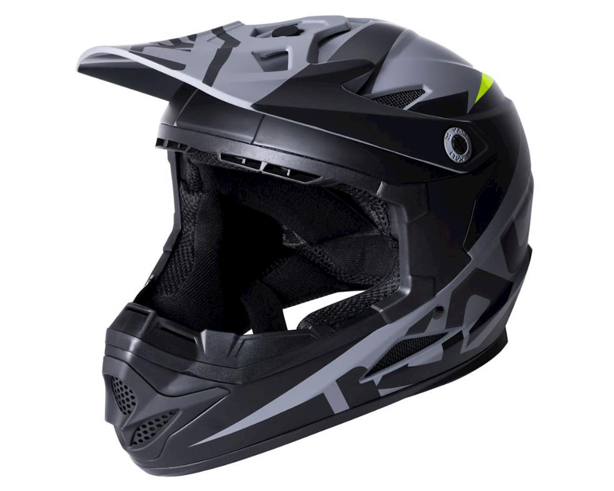 Kali Zoka Helmet (Dual Solid Matte Black/Lime) (M)