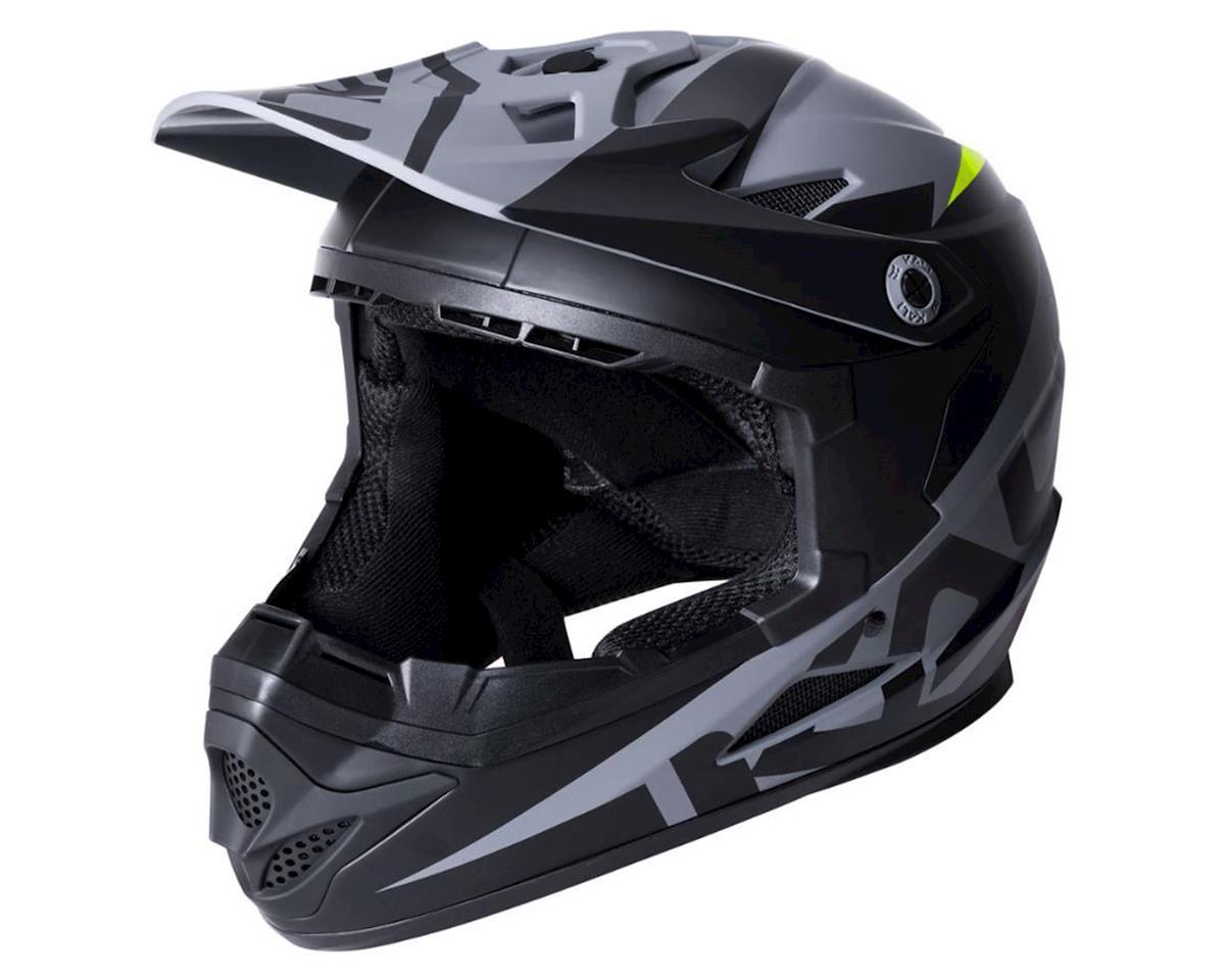 Kali Zoka Helmet (Dual Solid Matte Black/Lime) (L)