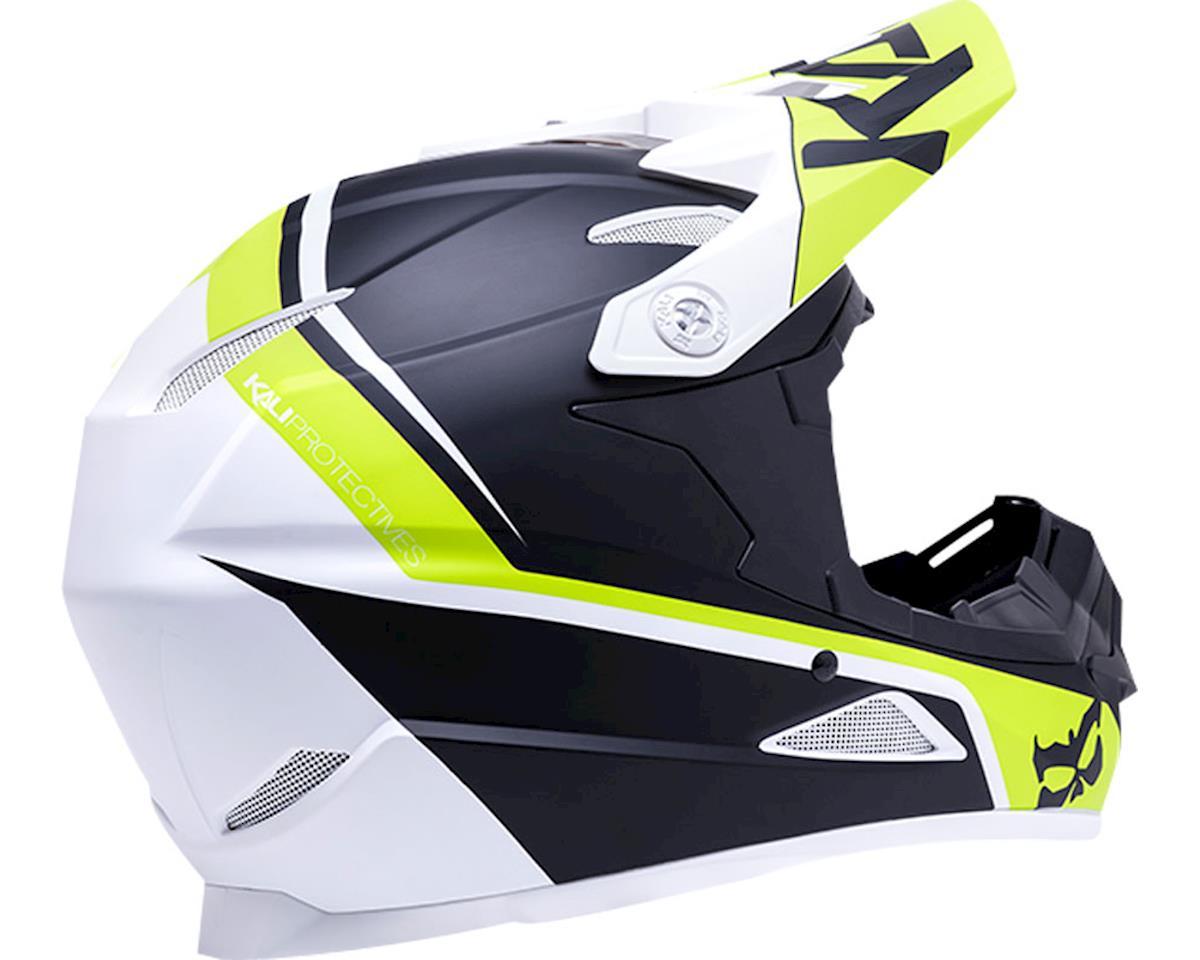 Kali Zoka Helmet (Dual Block Matte Lime) (M)
