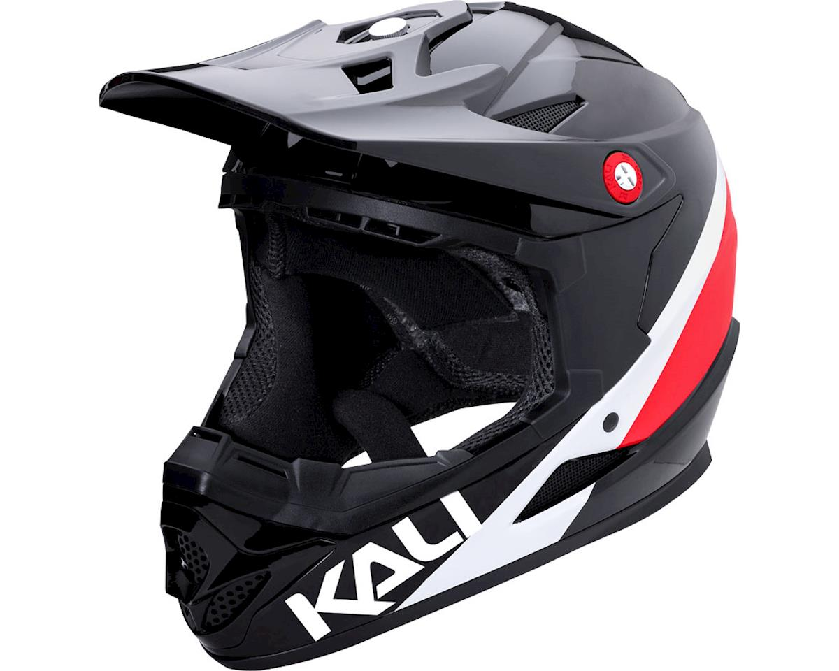 Kali Zoka Switchback Youth Helmet (Gloss Red/White/Blue) (Kids M)