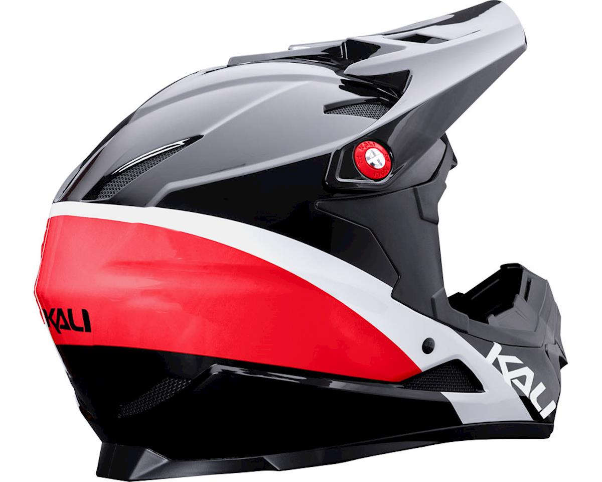 Kali Zoka Switchback Youth Helmet (Gloss Red/White/Blue) (Kids L)