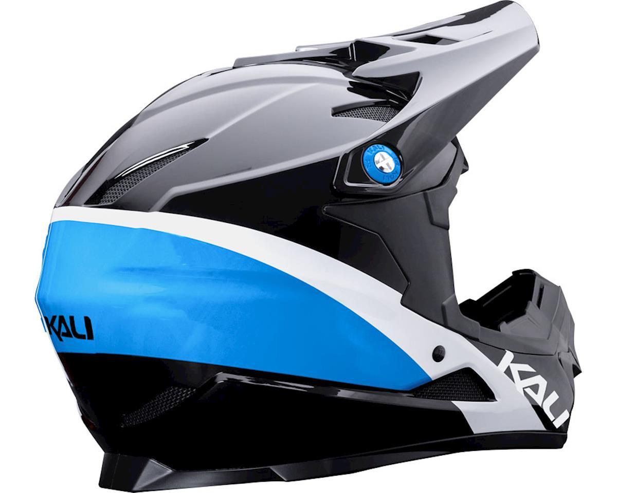 Kali Zoka Switchback Youth Helmet (Gloss Black/Blue/White) (Kids L)