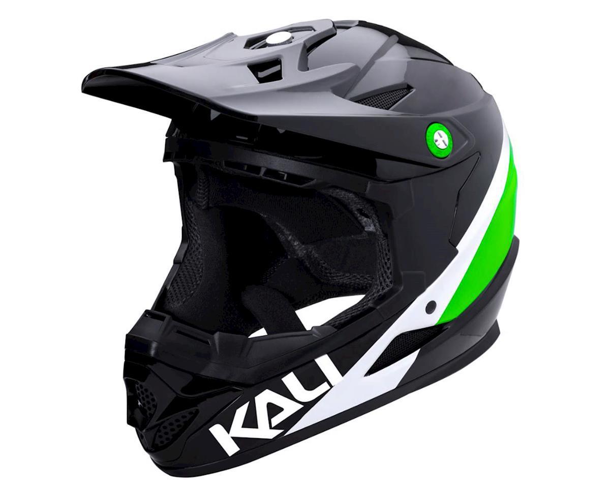Kali Zoka Helmet (Gloss Black/Lime/White) (M)