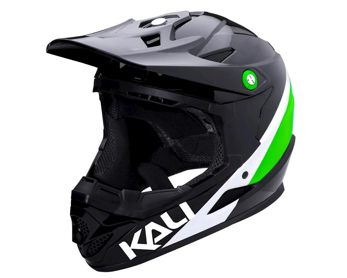 Kali Zoka Helmet (Gloss Black/Lime/White) (L)