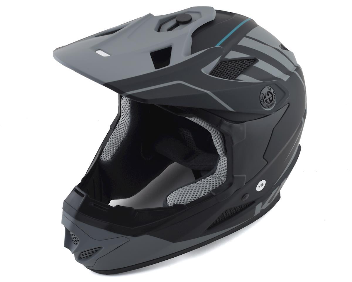 Kali Zoka Full-Face Helmet (Matte Black/Grey) (M)