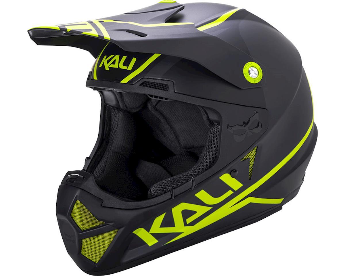 Kali Shiva 2.0 Helmet (Dual Matte Black/Lime) (XS)