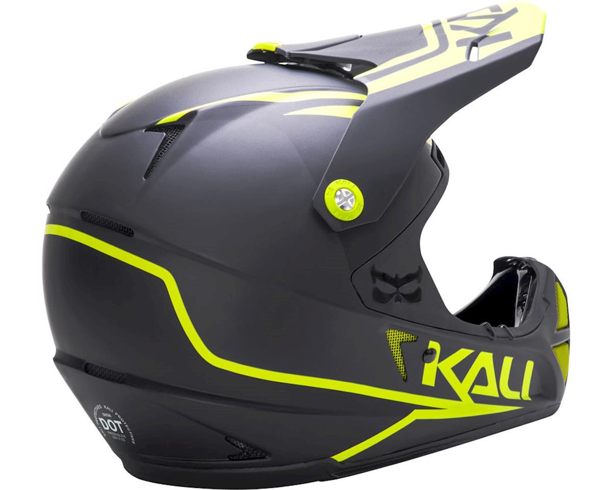 Kali Shiva 2.0 Helmet (Dual Matte Black/Lime) (M)