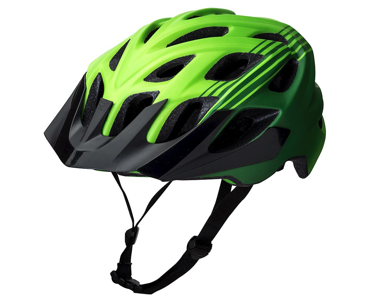 Kali Protectives Chakra Plus Helmet: Sonic White/Green MD/LG (S/M)