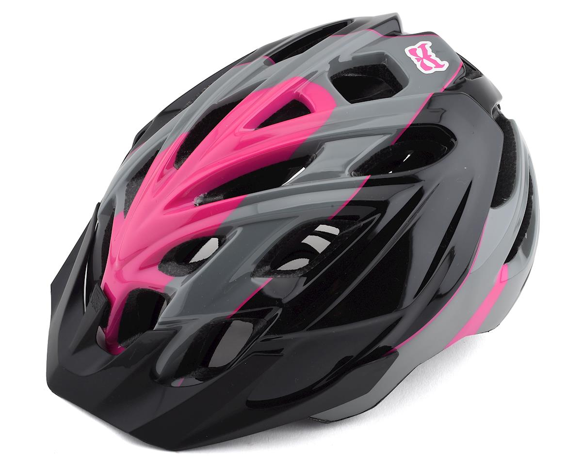 Kali Protectives Chakra Youth Helmet: Sublime Black/Magenta One Size