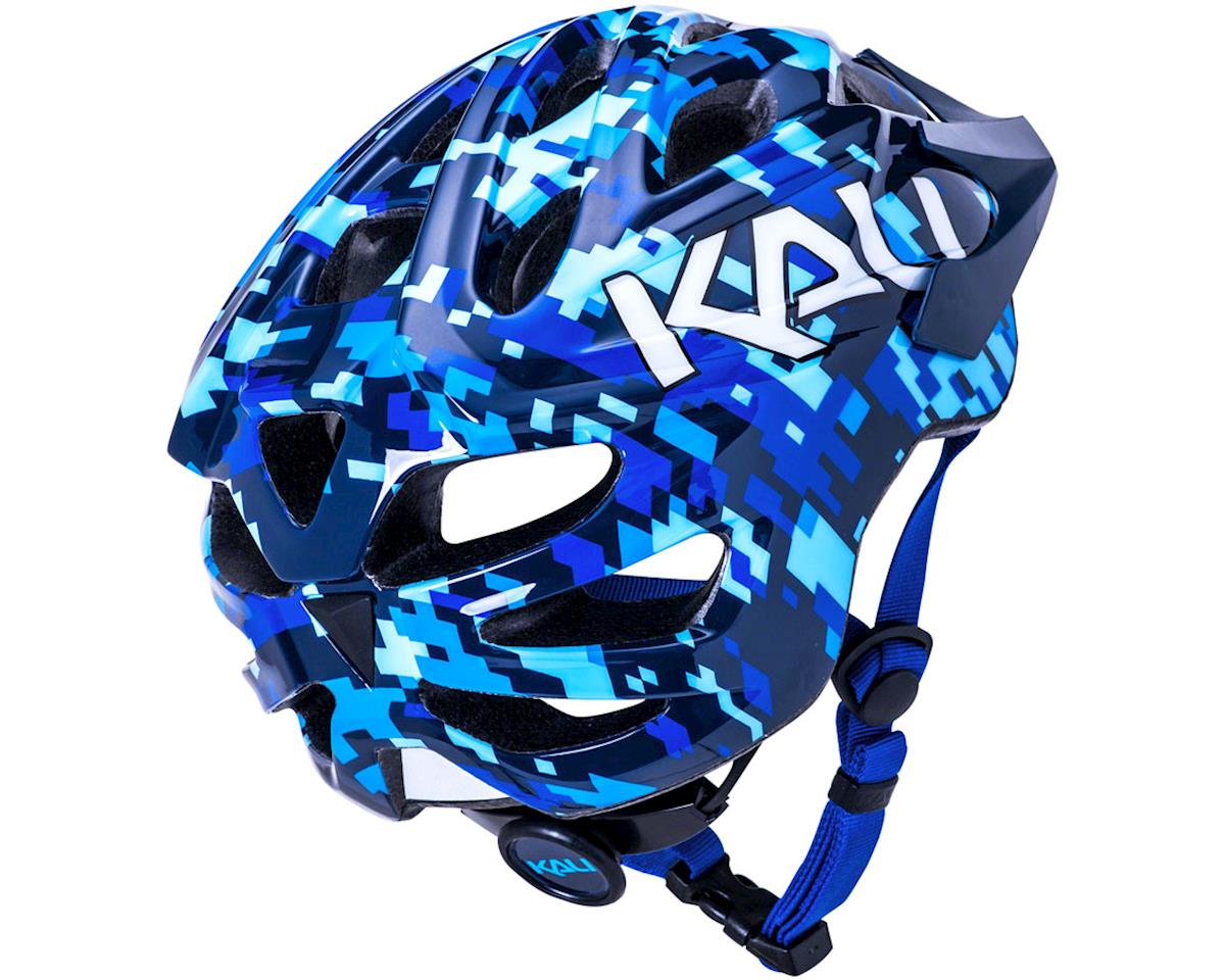 Image 3 for Kali Chakra Youth Helmet (Pixel Blue) (Universal Youth)