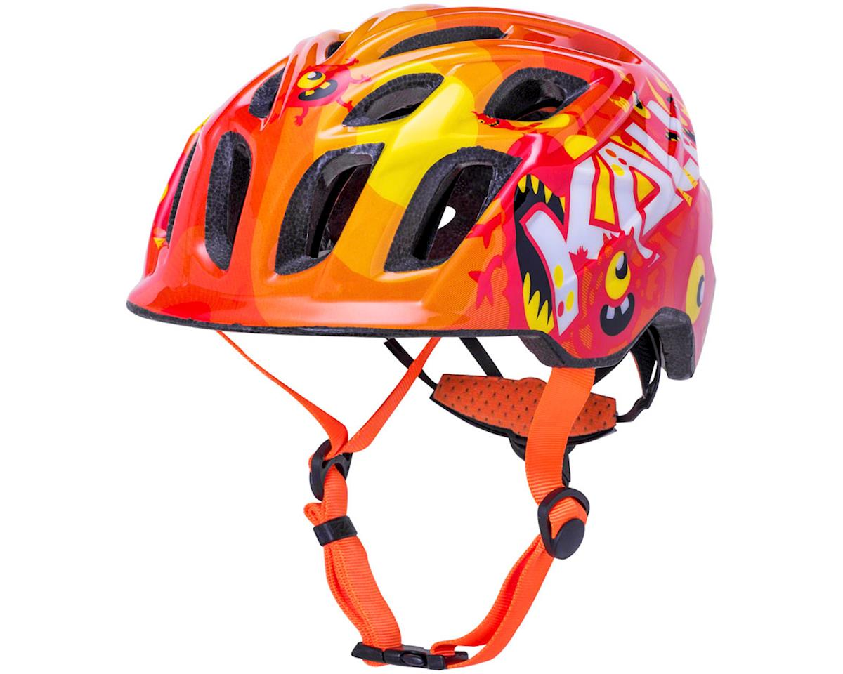 Image 1 for Kali Chakra Child Helmet (Monsters Orange) (XS)