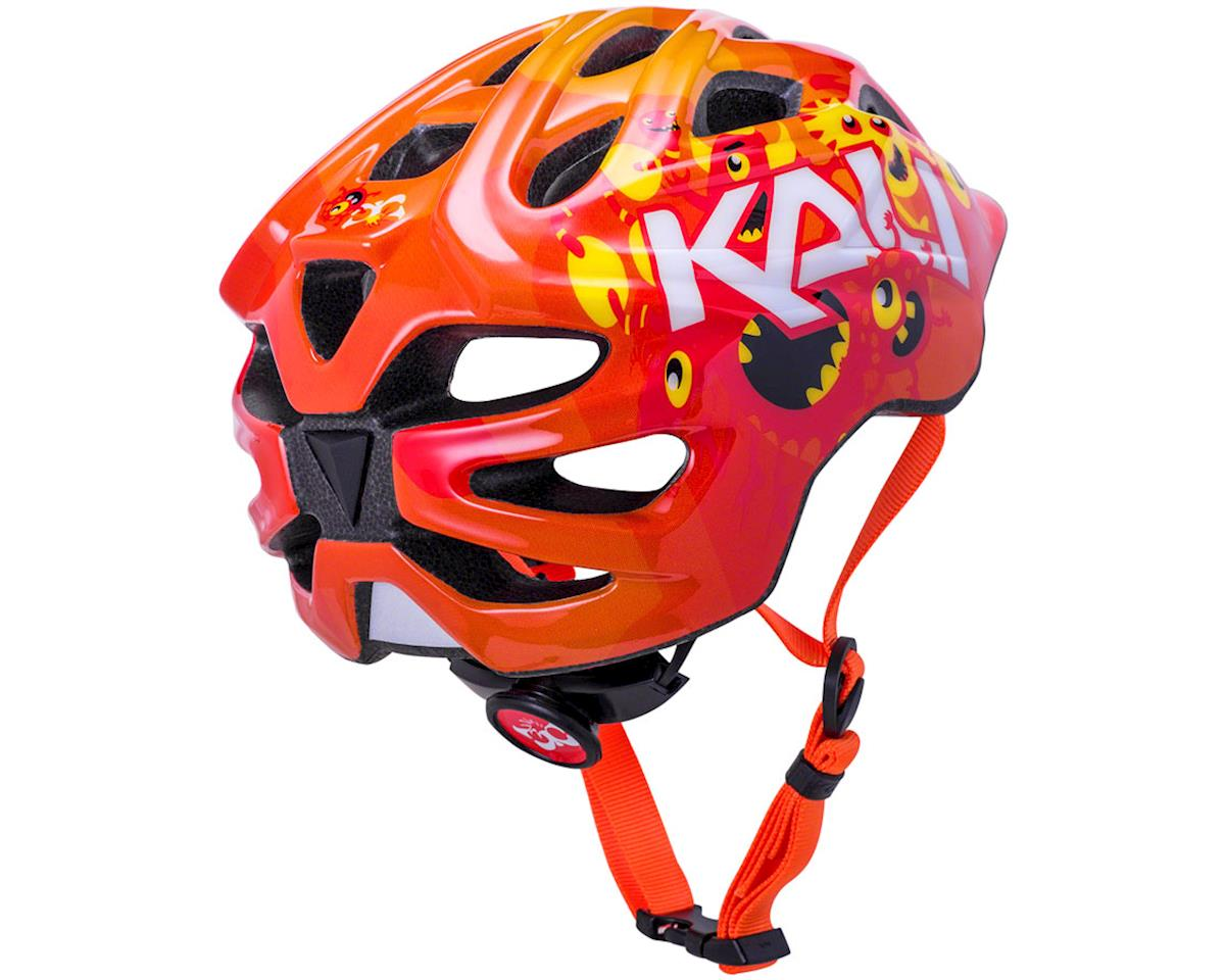 Image 3 for Kali Chakra Child Helmet (Monsters Orange) (XS)