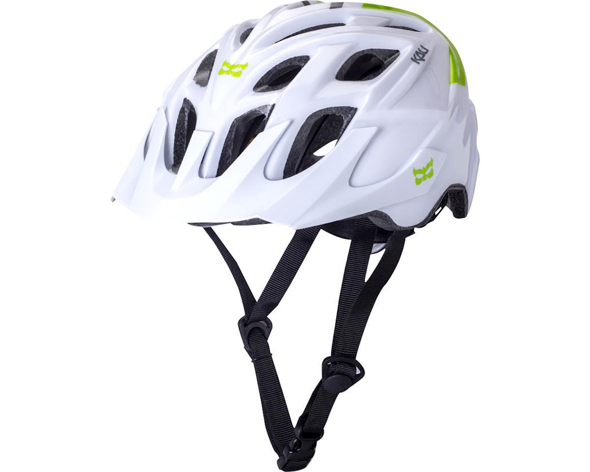 Kali Chakra Solo Helmet (White/Bright Green) (S/M)