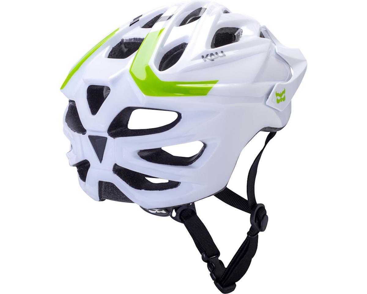 Kali Chakra Solo Helmet (White/Bright Green) (M/L)