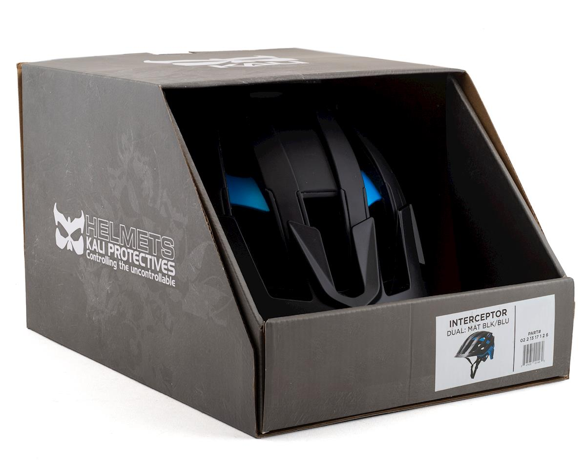 Kali Interceptor Helmet (Dual Matte Black/Blue) (S/M)