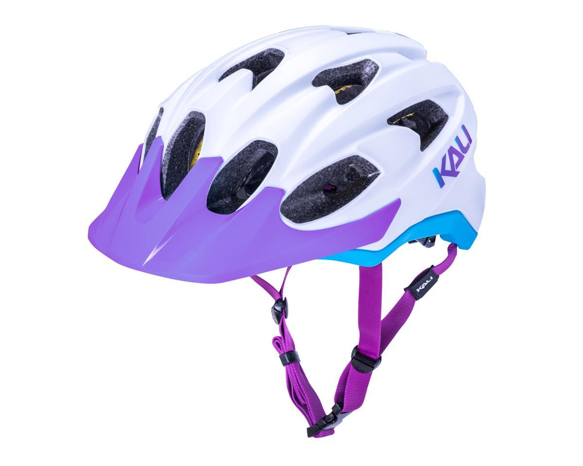 Image 1 for Kali Pace Helmet (Matte White/Blue/Purple) (S/M)