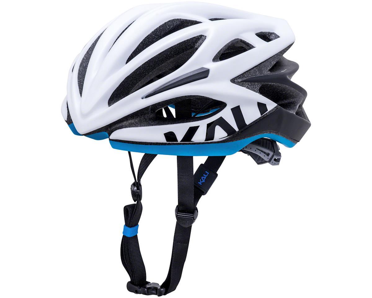Image 1 for Kali Loka Valor Helmet (Matte White/Black/Blue) (S/M)