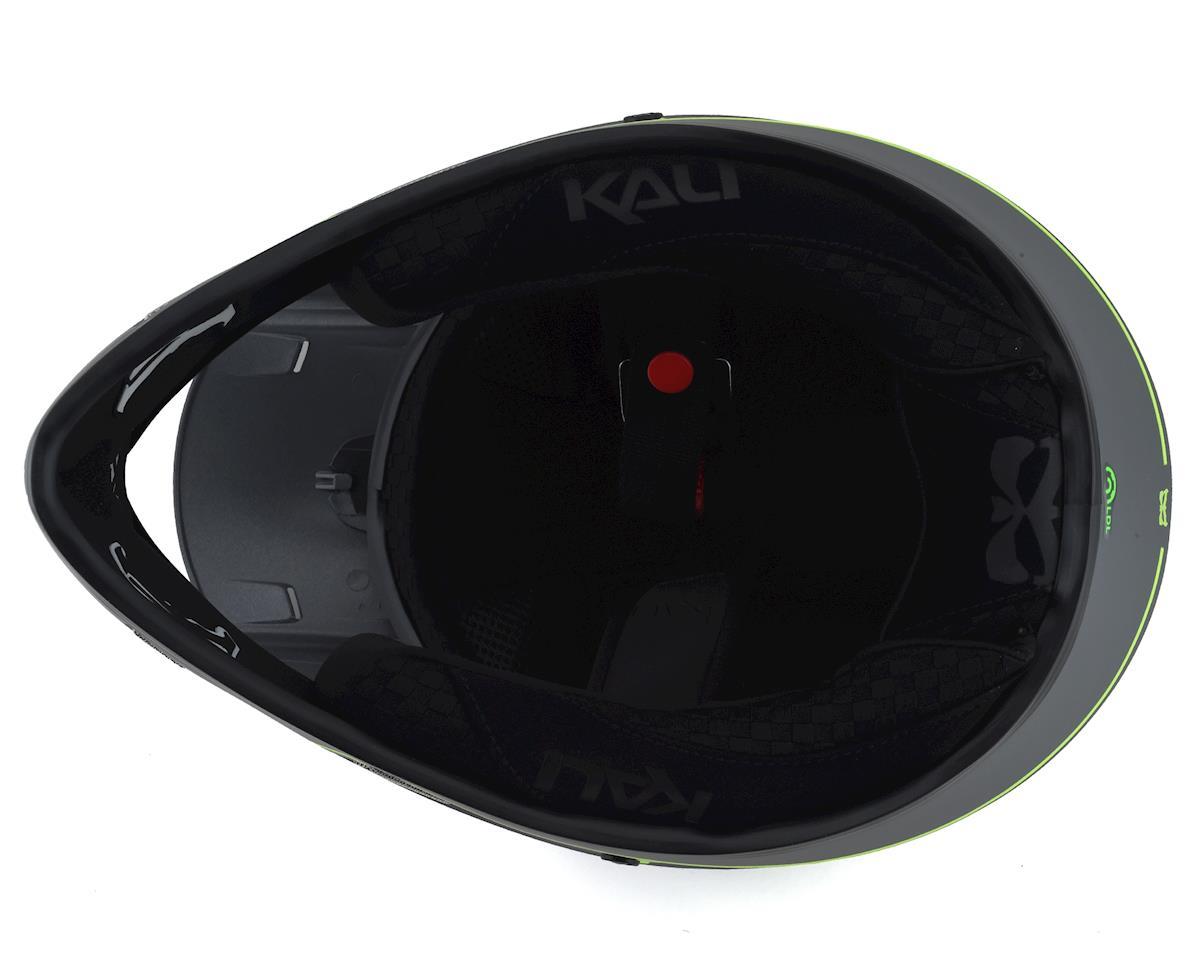 Kali Protectives Alpine Rage Full-Face Helmet - Matte Grey/Fluorescent Yellow (XS)