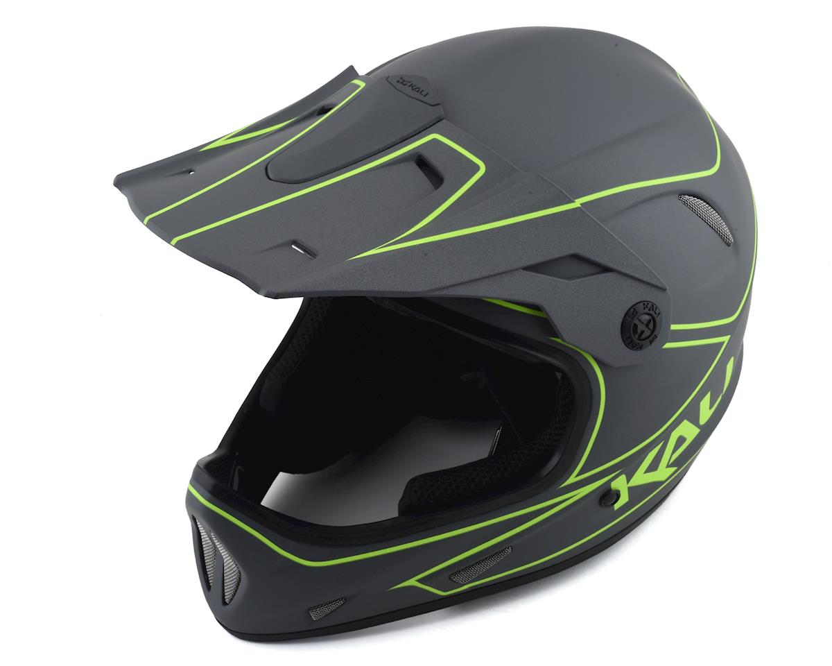 Kali Protectives Alpine Rage Full-Face Helmet - Matte Grey/Fluorescent Yellow (S)