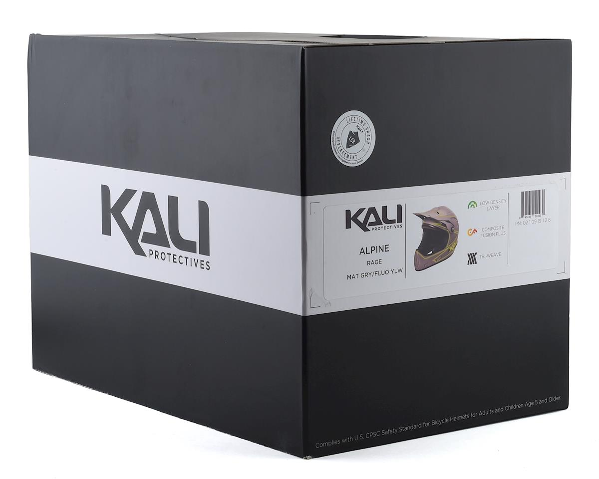 Kali Protectives Alpine Rage Full-Face Helmet - Matte Grey/Fluorescent Yellow (M)