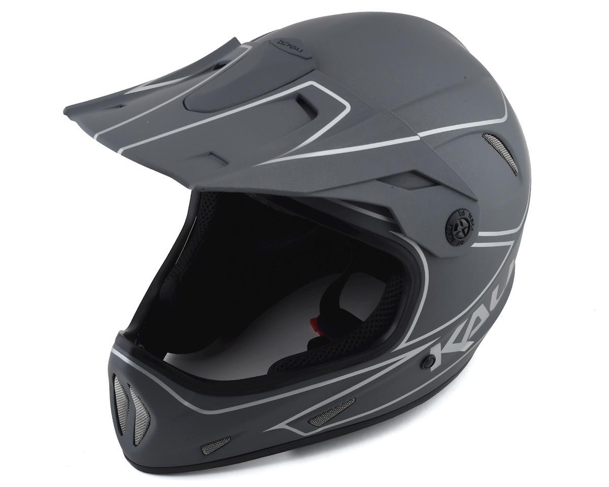 Kali Protectives Alpine Rage Full-Face Helmet - Matte Grey/Silver (M)