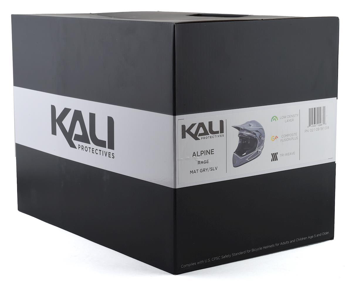 Image 5 for Kali Protectives Alpine Rage Full-Face Helmet - Matte Grey/Silver (M)