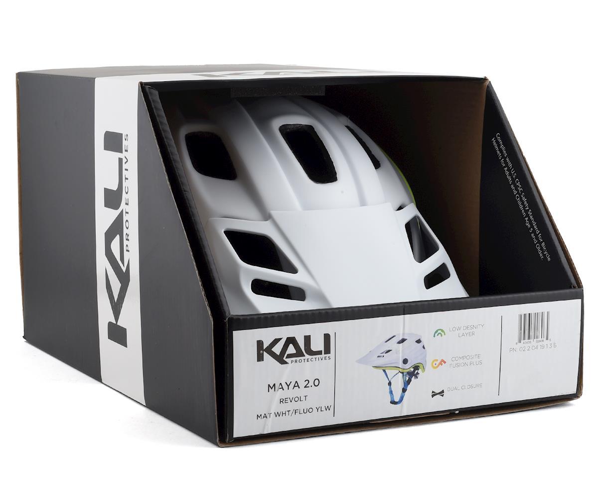 Image 4 for Kali Maya 2.0 Helmet (Matte White/Flourescent Yellow) (L/XL)