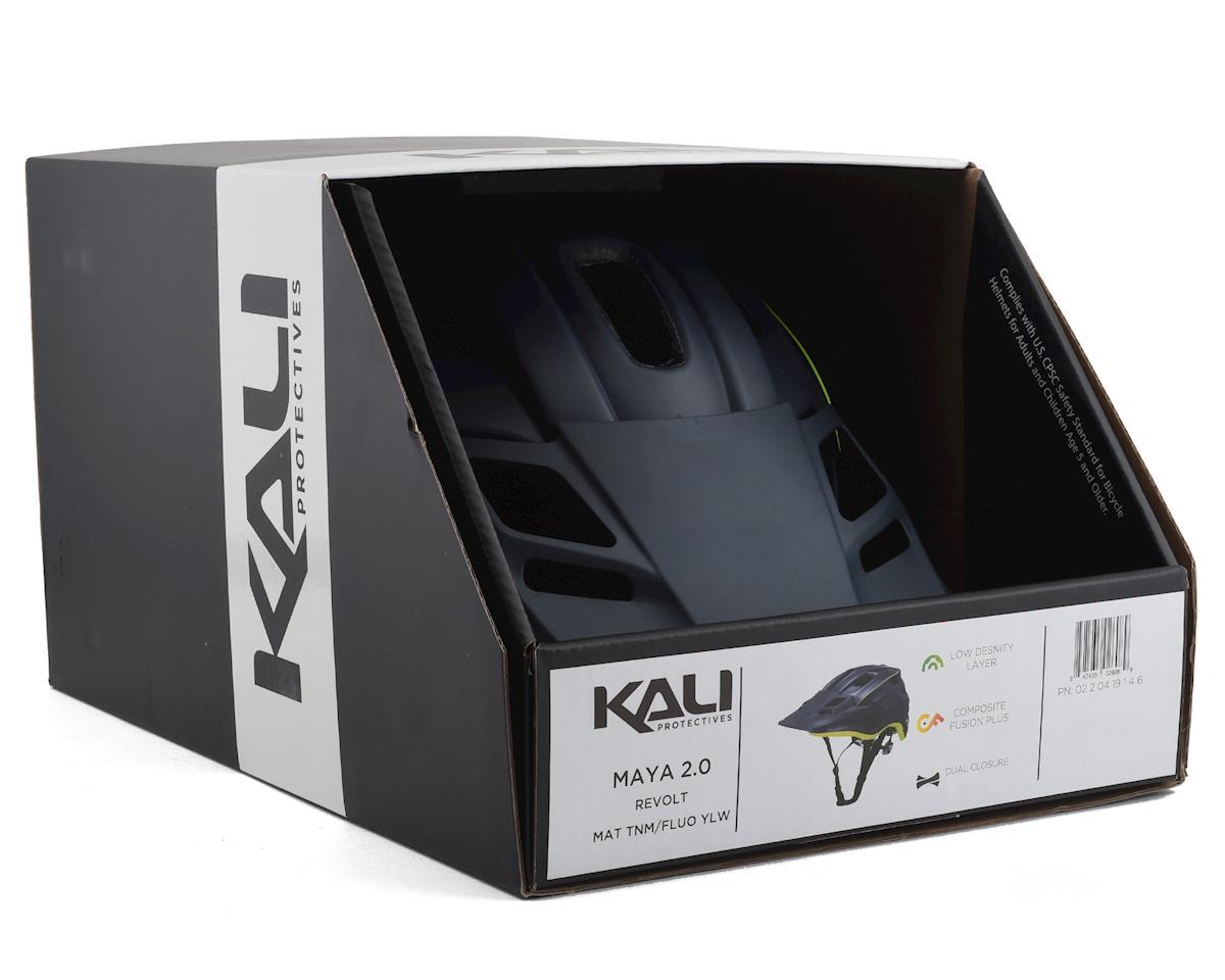Kali Maya 2.0 Helmet (Matte Titanium/Flourescent Yellow) (L/XL)