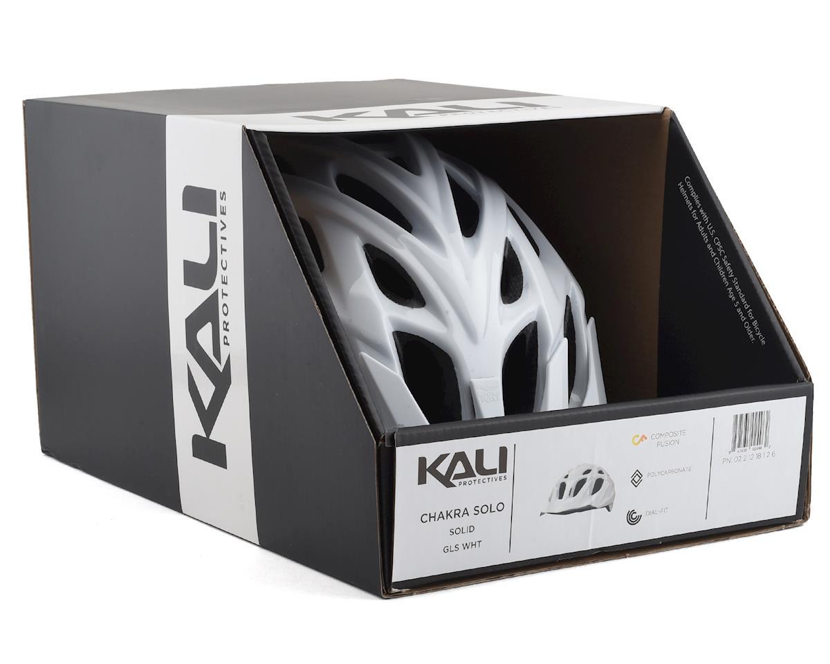 Kali Chakra Solo Helmet (Solid Gloss White) (S/M)