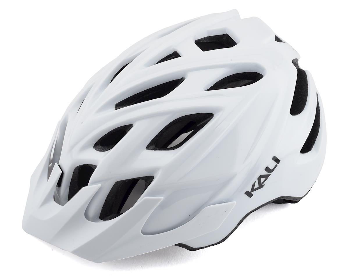 Kali Chakra Solo Helmet (Solid Gloss White) (L/XL)