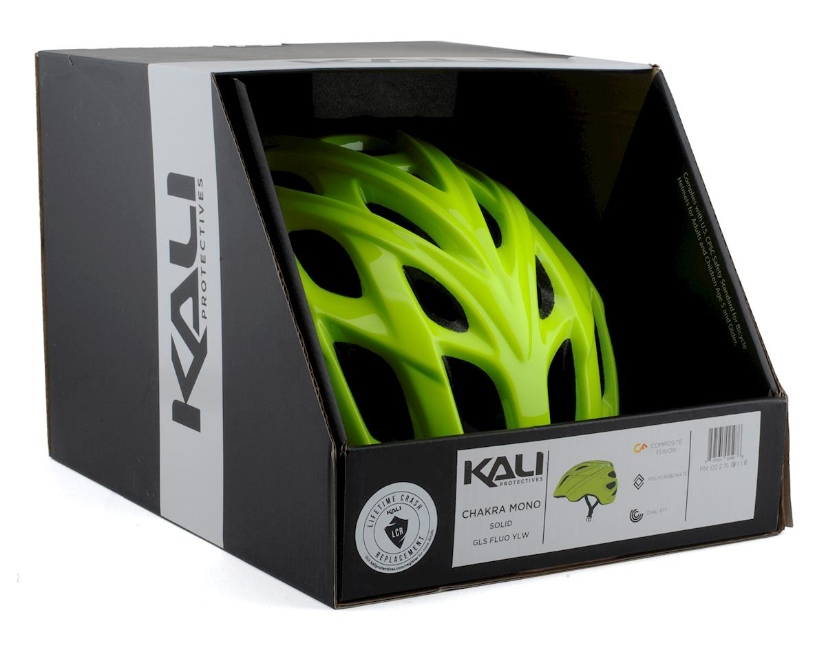 Kali Chakra Mono Helmet (Solid Gloss Fluorescent Yellow) (S/M)