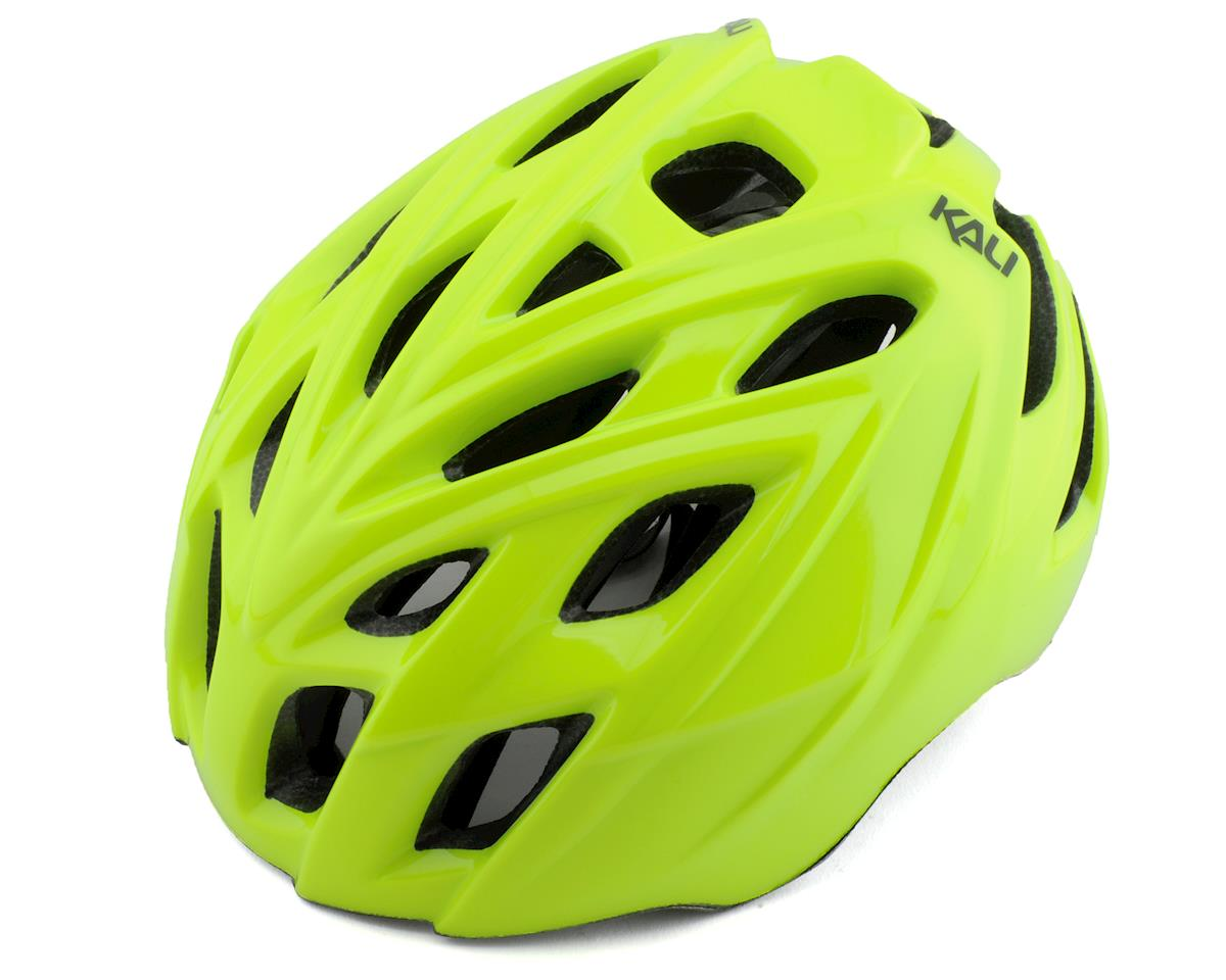 Kali Chakra Mono Helmet (Solid Gloss Fluorescent Yellow) (L/XL)
