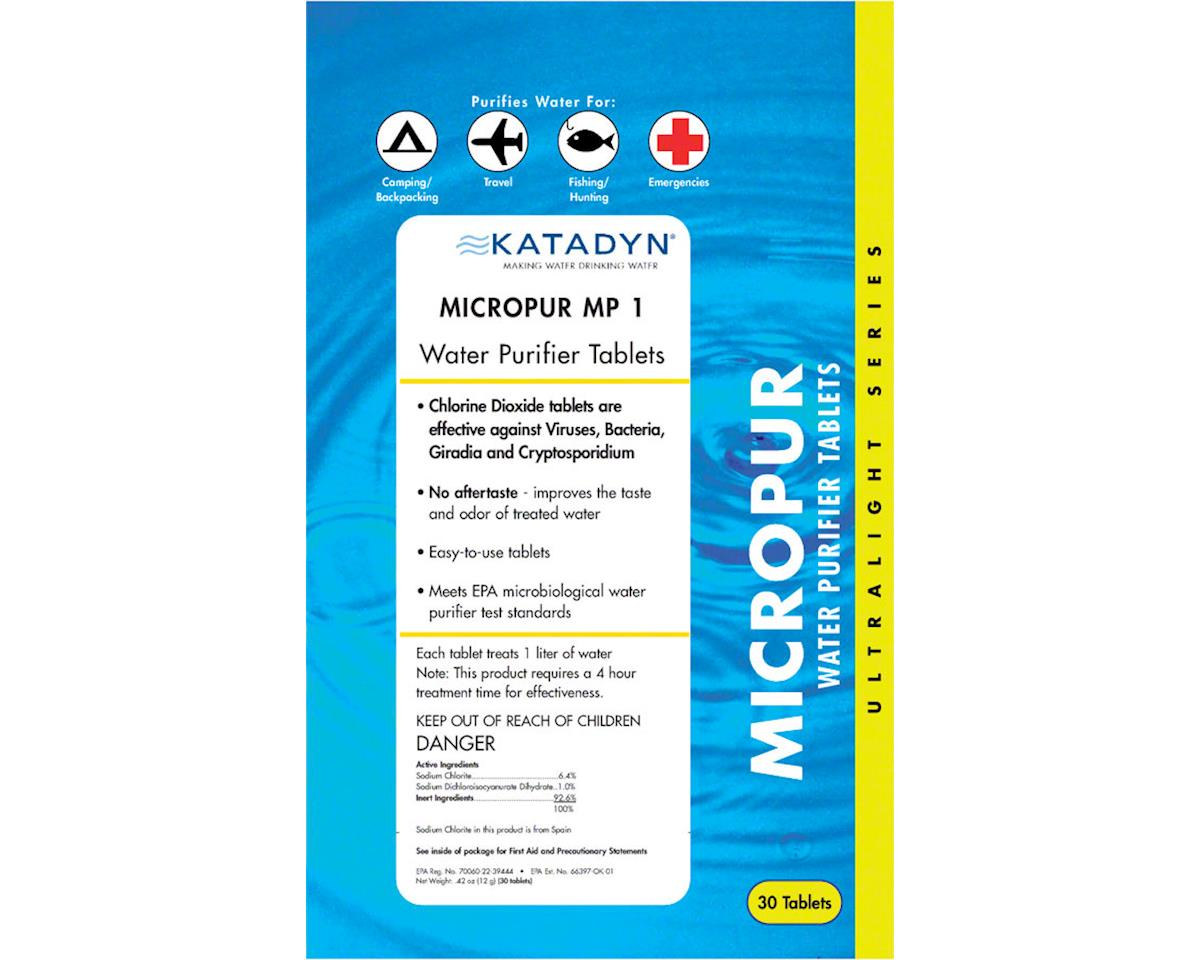 Katadyn Micropur MP1 Water Purification Tablets: Pack/30v
