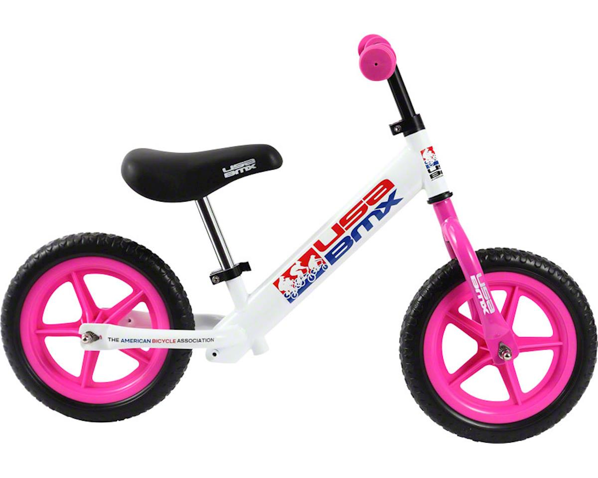 Kazam USA BMX Balance Bike: White/Pink