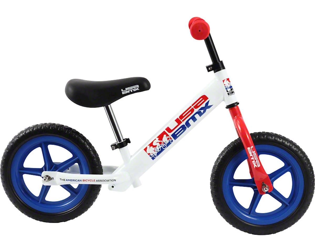 Kazam USA BMX Balance Bike: White/Red/Blue