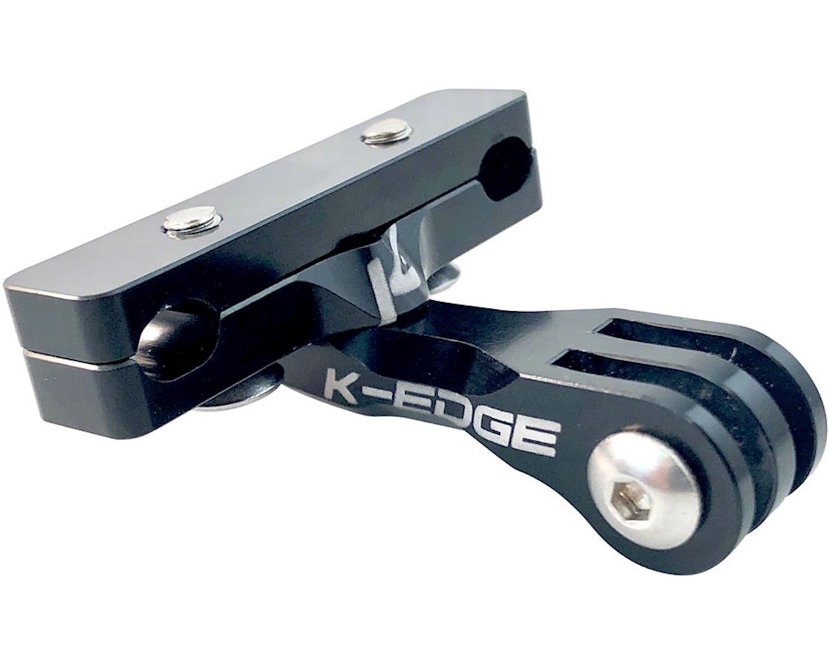 K-EDGE Go BIG Pro Saddle Rail Camera Mount for GoPro, Garmin, and Shimano, Black