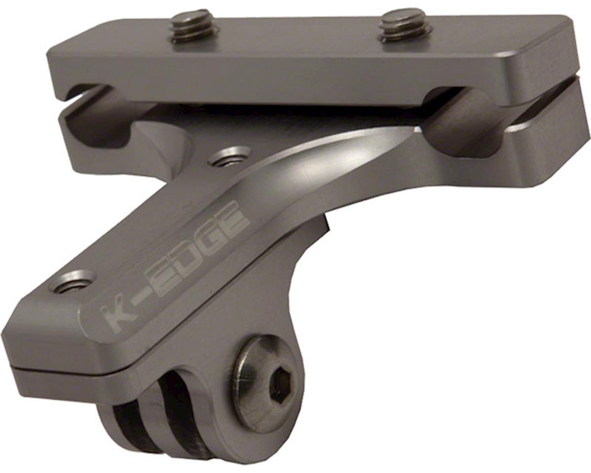 K-EDGE GO BIG Pro Saddle Rail Camera Mount for GoPro, Garmin and Shimano, Gunmet