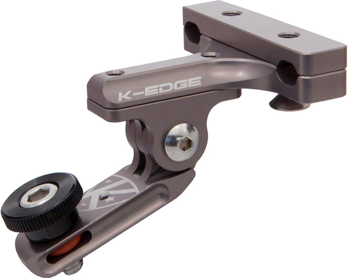 "K-EDGE GO BIG Pro Saddle Rail Universal (0.25""x20) Camera Mount, Gun Metal"