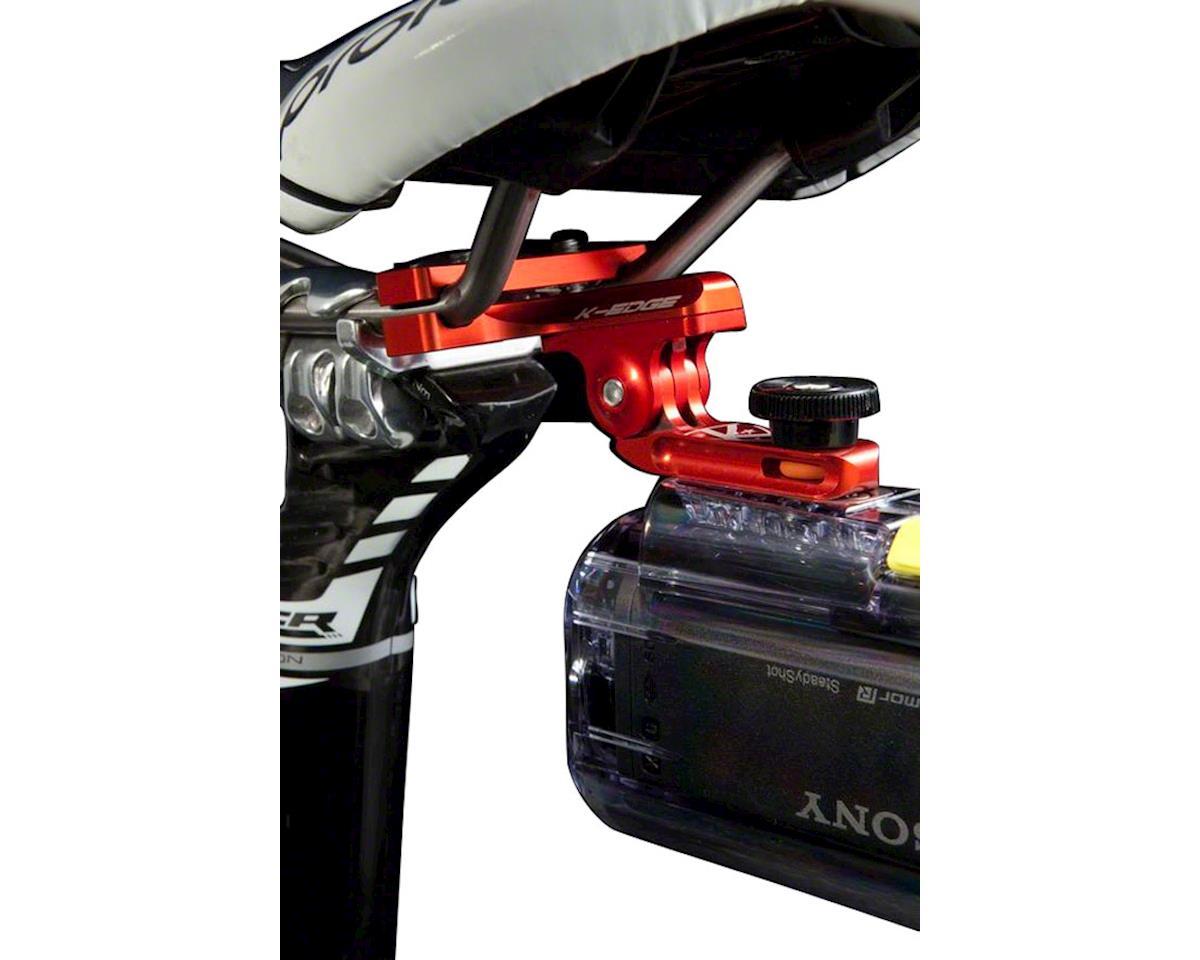 "K-EDGE GO BIG Pro Saddle Rail Universal (0.25""x20) Camera Mount, Gun Metal"