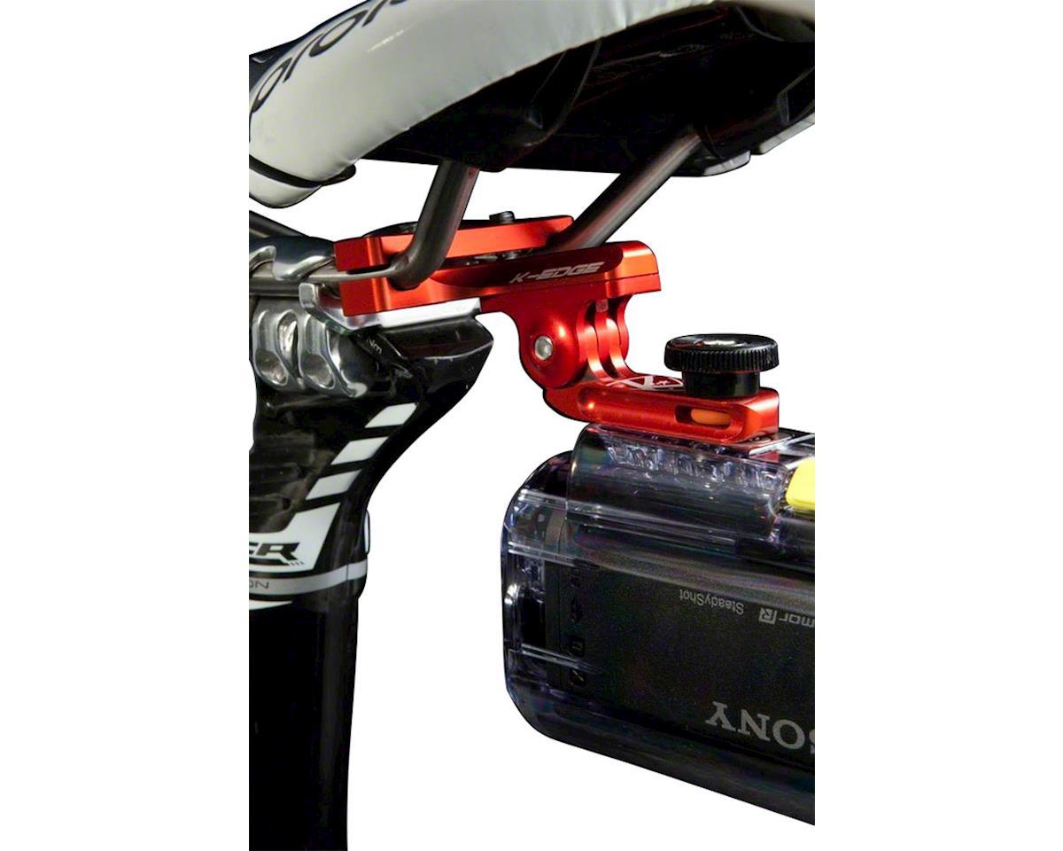 "K-EDGE GO BIG Pro Saddle Rail Universal Camera Mount Red 0.25/""x20"