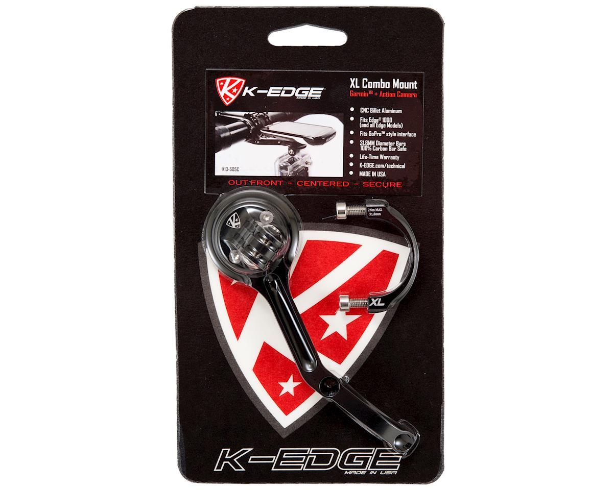 K-Edge XL Combo GPS/Camera Mount (Black) (Garmin 800/810/1000 & GoPro)