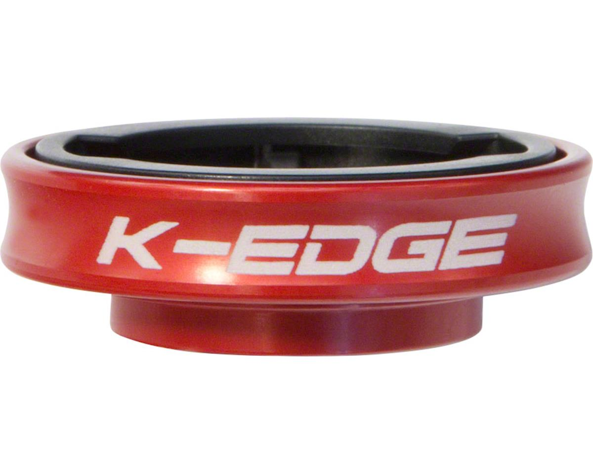K-EDGE Gravity Stem Cap Mount for Garmin Quarter Turn Type Computers, Red