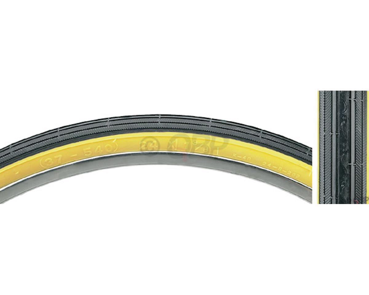 Street K40 Road Tire 24x1 3/8 Black/Tan Steel