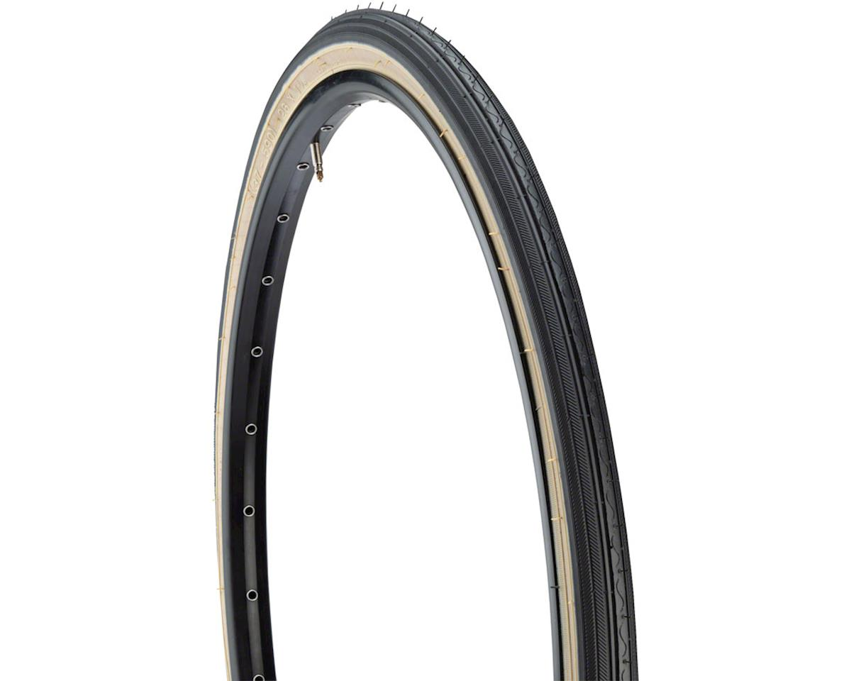 Street K40 Road Tire 26x1 3/8 Black/Tan Steel 30 TPI