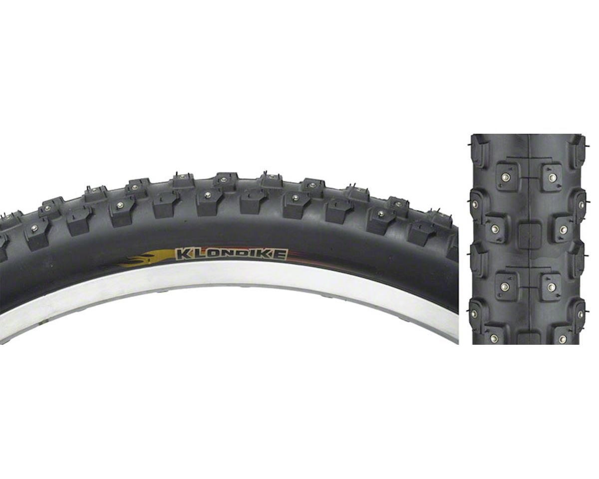 "Klondike Wide K1013 Snow Tire: 26 x 2.1"", 252 Carbide Studs, Black, Steel"